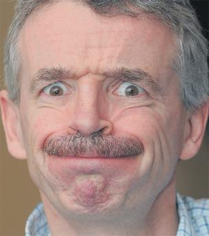 Ryanair boss Michael O'Leary shows off his mo for 'Movember' after the announcement that Ryanair is to cut 48 flights from January, resulting in 380,000 fewer passengers using Dublin Airport. Photo: Damien Eagers