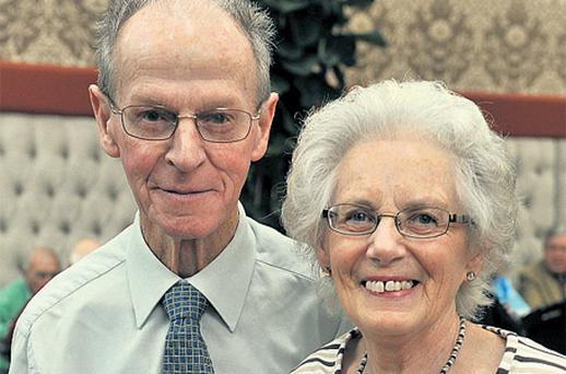 Mary and Michael Sullivan, who took part in the 50th wedding anniversary celebration in Douglas, Co Cork, yesterday