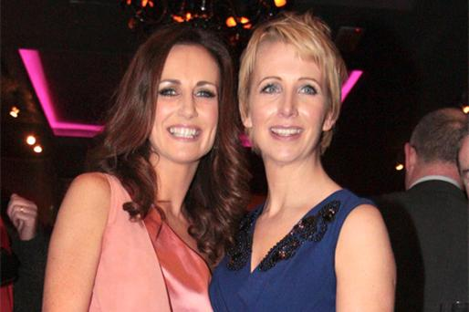 Lorraine Keane and Aisling O'Loughlin at the book launch last night