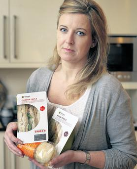 Salt of the earth: Suzanne Campbell with some ready-made sandwiches. Picture by Ronan Lang