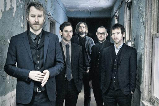 NATIONAL TREASURES: Matt Berninger, twins Aaron and Bryce Dessner and brothers Scott and Bryan Devendorf