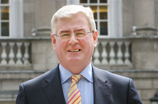 Eamon Gilmore was canvassing for support in Donegal yesterday. Photo: Tony Gavin