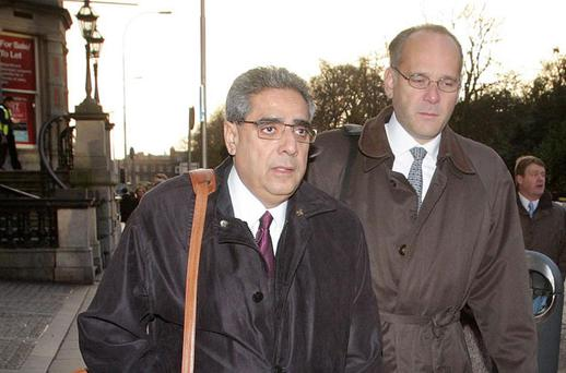 Ajai Chopra[ left] Dept Director of the IMF European Department pictured as he made his way to the Central Bank HQ. Photo: Frank McGrath