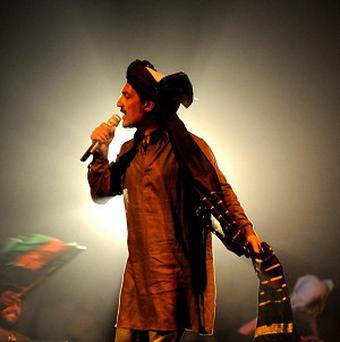 A concert by Farhad Darya has been hailed by British forces as proof of improving security in Afghanistan