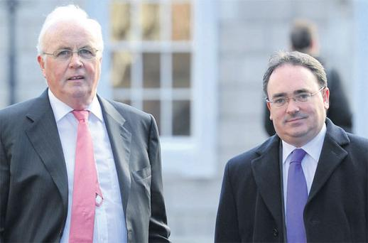 ON A MISSION: Frank Daly, Nama Chairman, left and Brendan McDonagh, Nama Chief Executive, gave a rare insight into the workings of the State agency last week
