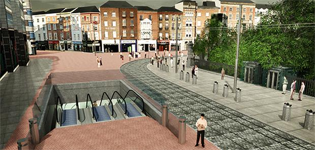 An artist's impression of the St Stephen's Green entrance