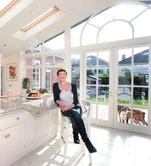 Emer in the light filled kitchen. Photo: Tony Gavin