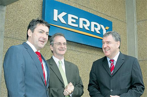 During a visit to 'Kerry do Brazil' at the company HQ in Brazil were, from left, Minister Billy Kelleher, Kevin Sherry, manager international sales and partnering, and Malcolm Shiel, Kerry president for Latin America