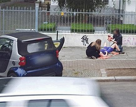The birth was captured on Google Steet View. Photo: Google Street View