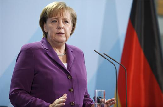 German Chancellor Angela Merkel said the euro faces an 'exceptionally serious' situation. Photo: Bloomberg News