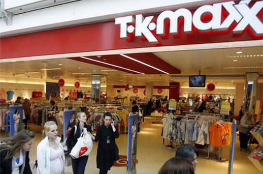 In accounts just filed for TJX Ireland, which trades as TK Maxx, the subsidiary revealed that operating profit at its 15 outlets here climbed 7.6pc to €26.6m for the period. Photo: Bloomberg News