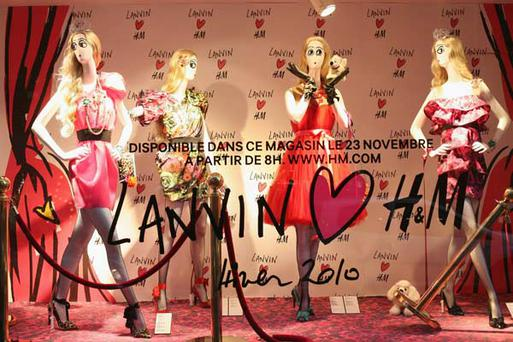 The launch of Lanvin for H&M in Paris. Photo Getty Images