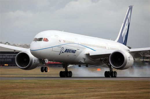 The Boeing 787 Dreamliner passenger jet has been again delayed after a recent test flight fire. Photo: Bloomberg News