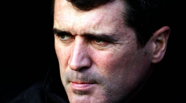 Roy Keane in pensive mood as he watches Ipswich lose to arch rivals Norwich at Carrow Road yesterday. Photo: Getty Images