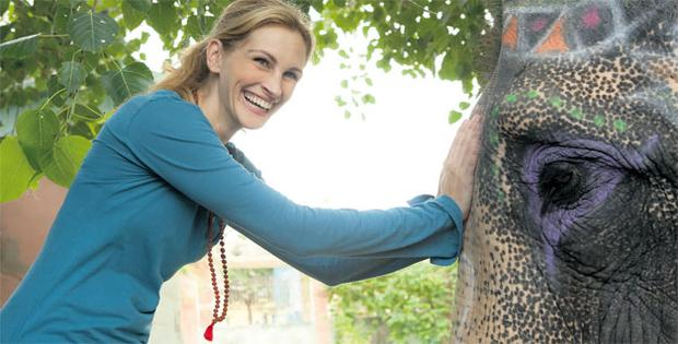 Frenzy: yoga marketing really took off earlier this year following the release of the film 'Eat, Pray, Love', starring Julia Roberts
