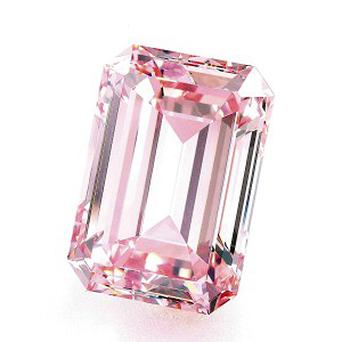 A rare pink diamond has sold at an auction for more than £14.8 million in Hong Kong