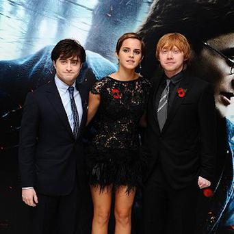 Daniel Radcliffe, Emma Watson and Rupert Grint are three of the top four of British's wealthiest stars under 30, a survey showed