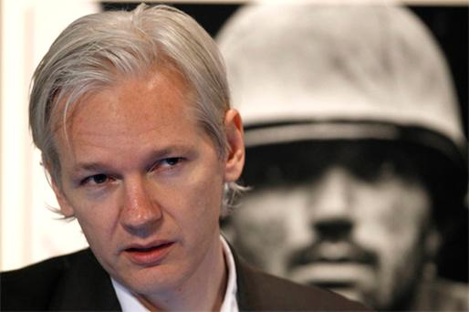 Wikileaks founder Julian Assange speaks a news conference at the Frontline Club in London