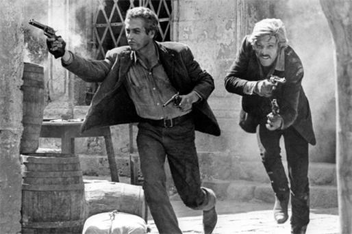 Paul Newman as Butch Cassidy and Robert Redford as the Sundance Kid. Perhaps our film industry could turn to the western genre?