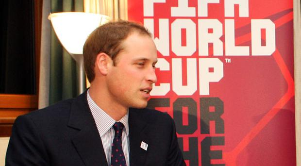 Prince William has been doing everything in his power to push England's 2018 World Cup bid. Photo: Getty Images
