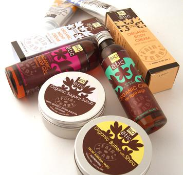 The luxurious new Bio Etic range of Fair Trade and organic cosmetics available from Oxfam shops