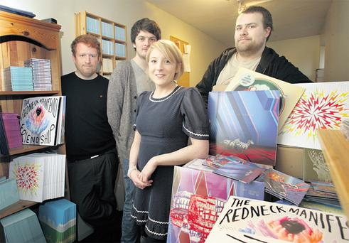 From left, Mick Roe, Lewis Jackson, Danielle Walsh and Barry Lennon