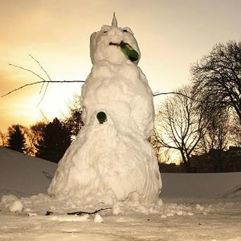One of the many snowmen across the UK which remained unstolen