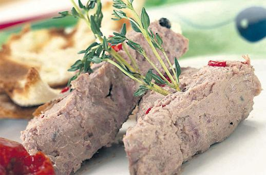 Freezer-style coarse country pate