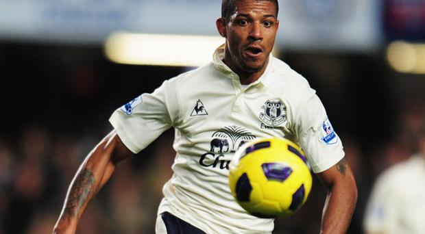 Jermaine Beckford scored the equaliser for Everton. Photo: Getty Images