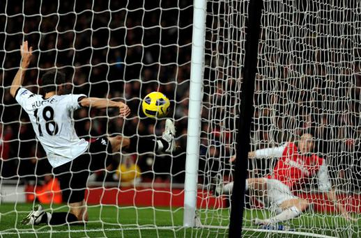 Samir Nasri scored both Arsenal's goals in their win over Fulham. Photo: Getty Images