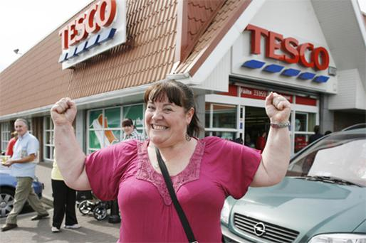 Mary Byrne pictured outside Tesco in Ballyfermot, Dublin