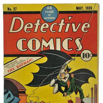 A 1939 edition of Detective Comics containing Batman's first appearance is expected to fetch £25,000