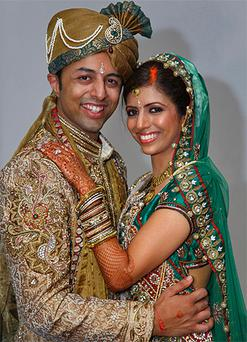 Newlyweds Shrien Dewani and Anni Dewani. Photo: PA