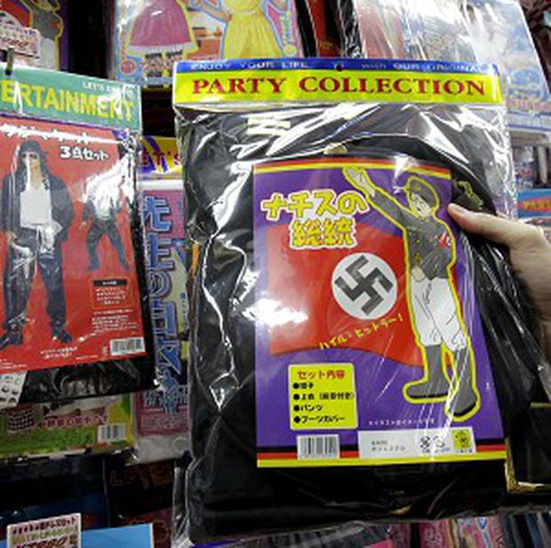 A Nazi costume is displayed for sale at retailer Don Quijote in Tokyo (AP)