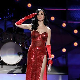 Katy Perry was one of the 'divas' performing for US troops