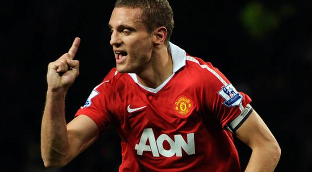 Nemanja Vidic has targetted victories over arch-rivals Arsenal and Chelsea in Manchester United's next two Premier League games. Photo: Getty Images