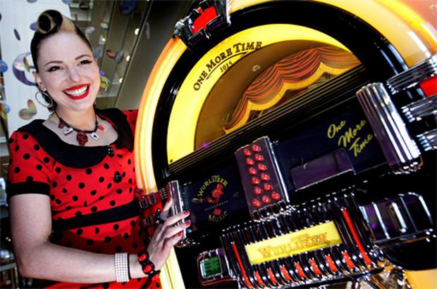 International music sensation Imelda May at the announcement of Eircom's new MusicHub at the Heuston South Quarter in Dublin yesterday