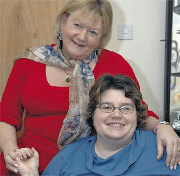 Anne Hughes with her daughter Debbie, who she cares for at home in Tullamore, Co Offaly