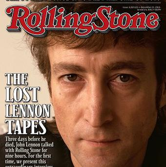 The cover of Rolling Stone magazine carries image of former Beatle John Lennon (AP)