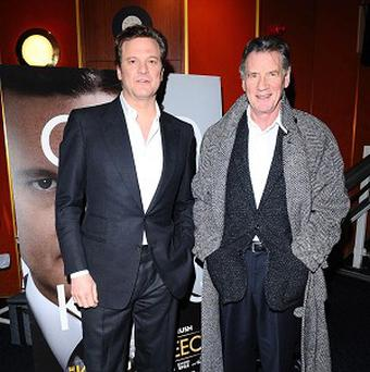 Colin Firth (left) and Michael Palin at the screening at the Curzon cinema in Mayfair