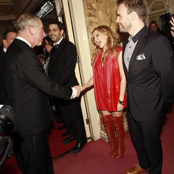 Charles also met Kylie Minogue and Gary Barlow