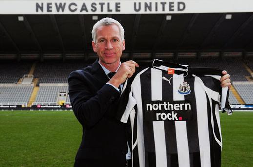Alan Pardew was unveiled as the new manager of Newcastle United yesterday. Photo: PA