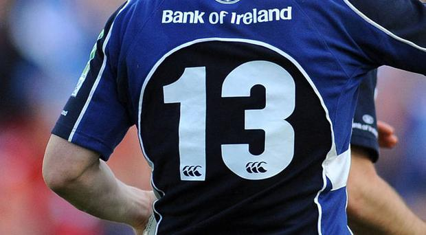 The number 13 jersey worn by Brian O' Driscoll, Leinster. Photo: Sportsfile