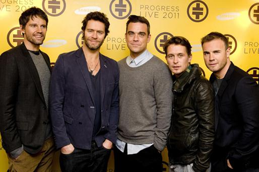 Chart-topping stars Take That are to be among the acts performing at next year's Brit Awards. Photo: PA
