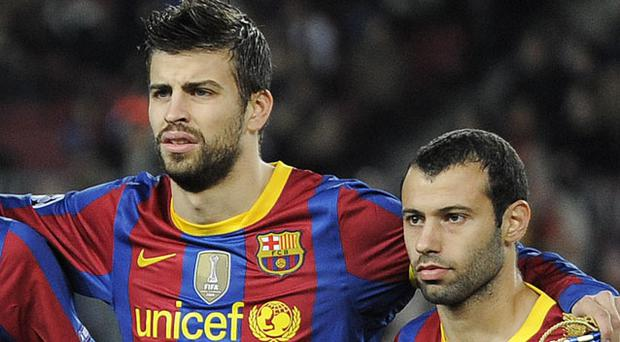 Unicef will soon share space on Barcelona's kit with the Qatar Foundation Photo: GETTY IMAGES
