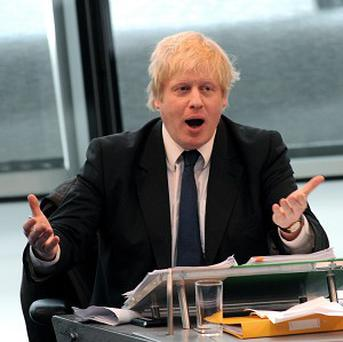 Mayor of London Boris Johnson has received a Golden Bull booby prize for talking gobbledegook