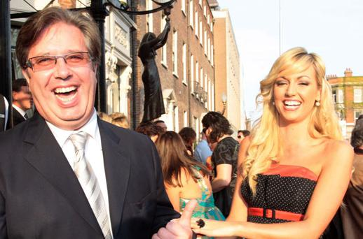 Gerry with Rosanna Davison in 2008. Photo: Collins