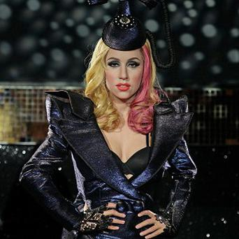 Lady Gaga's London waxwork wears her telephone hat