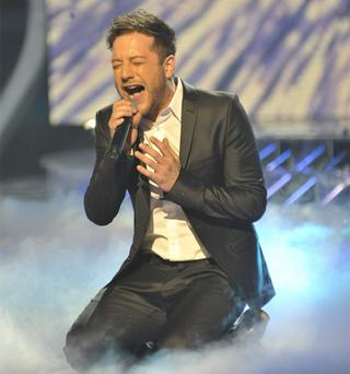 Matt Cardle performs on the X Factor final