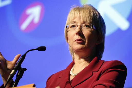 Nothing to laugh about: Education Minister Mary Hanafin. Photo: Frank McGrath